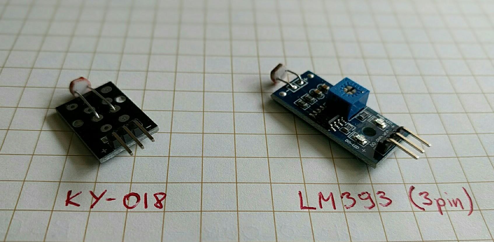 Licht Diode Sensor Modul digital LM393 3,3-5V KY-018 ESP32 ESP8266 Arduino