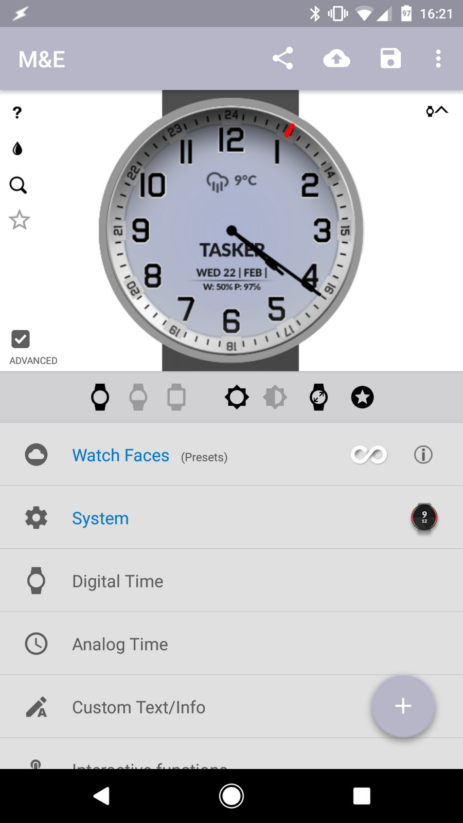Watch Face - Minimal & Elegant (with Tasker integration) - Not
