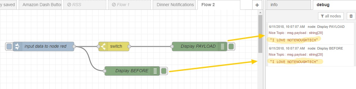 NodeRED for beginners: 4  Data Processing - Not Enough TECH