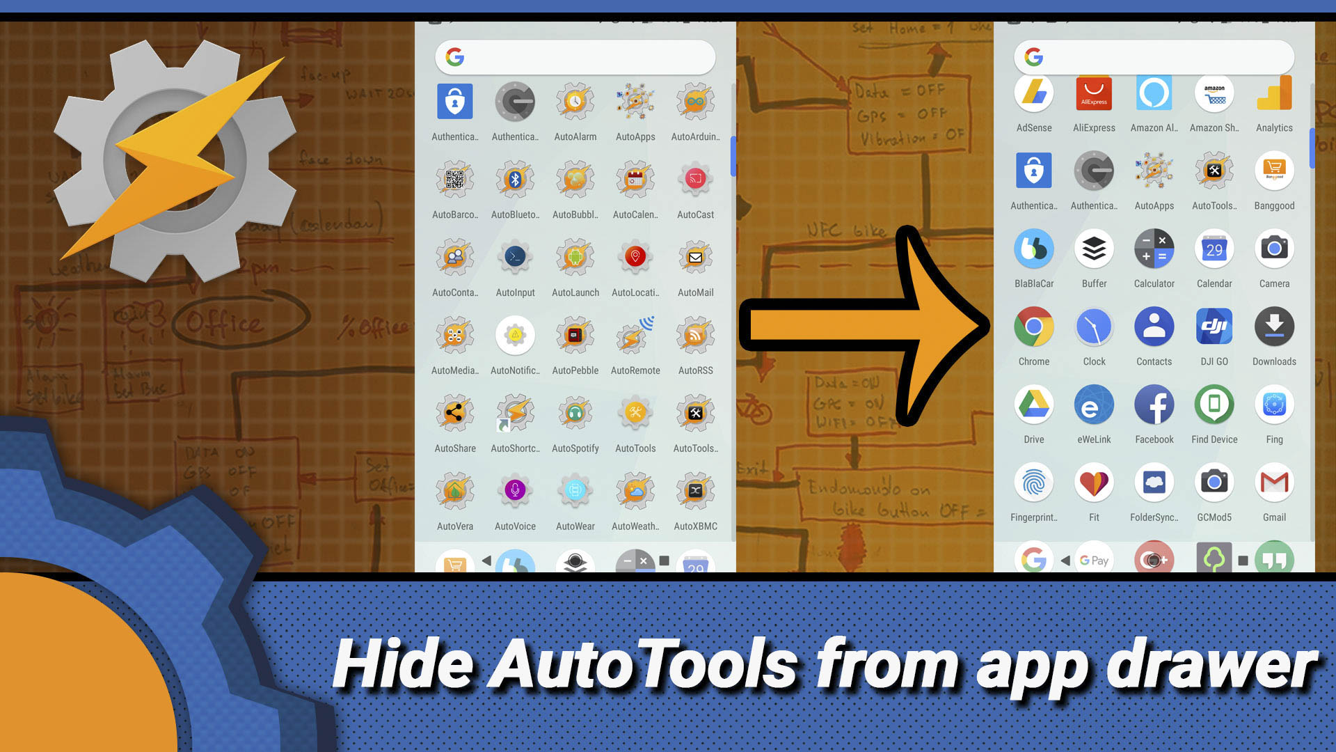 Annoyed with dozens of AutoApps populating your app drawer
