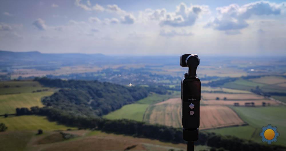 Feiyu Pocket 2 on top of a mountain
