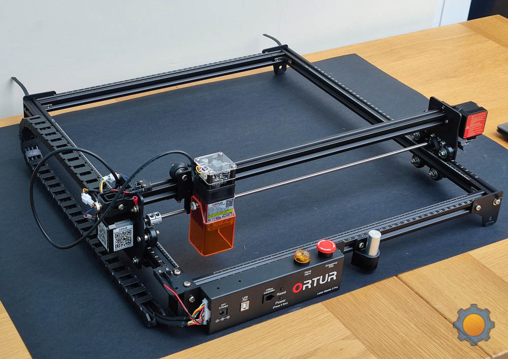 40cm by 40 cm  - working area of  Ortur Master 2 Pro