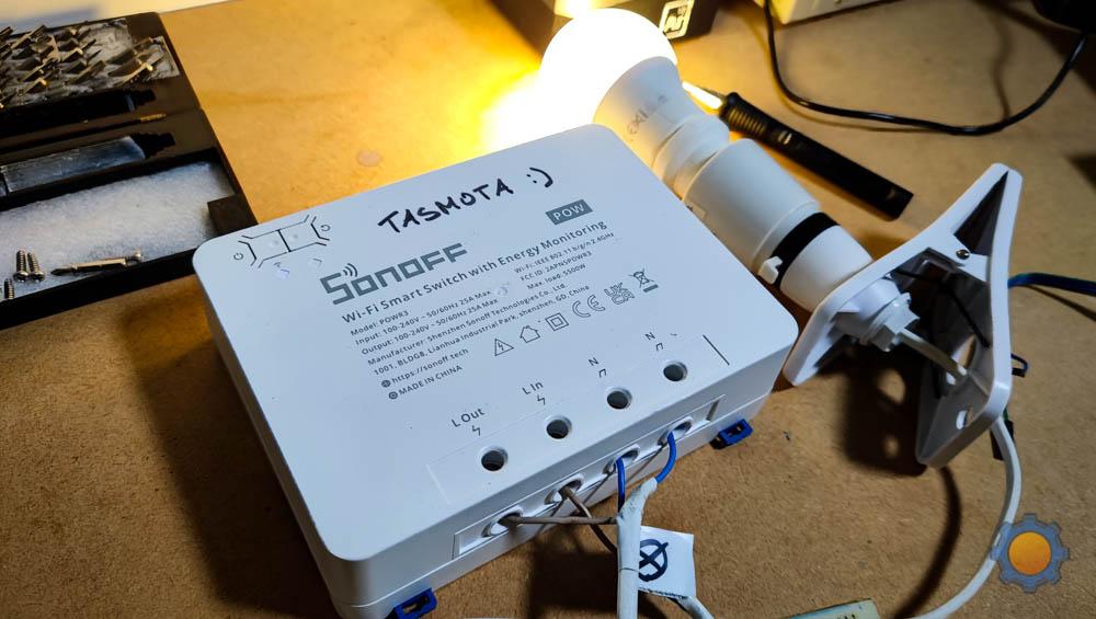 Sonoff POWR3 running Tasmota