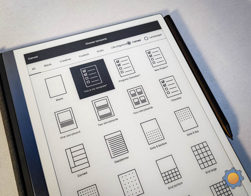 reMarkable2 custom templates